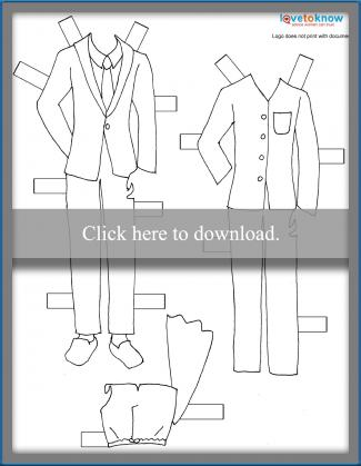 dad paper doll clothes