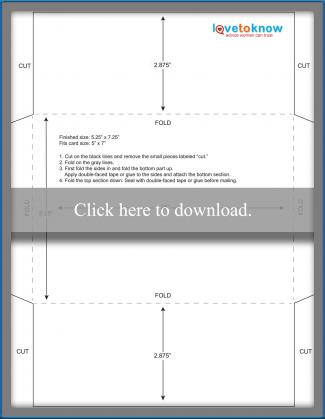5.25 x 7.25 envelope template