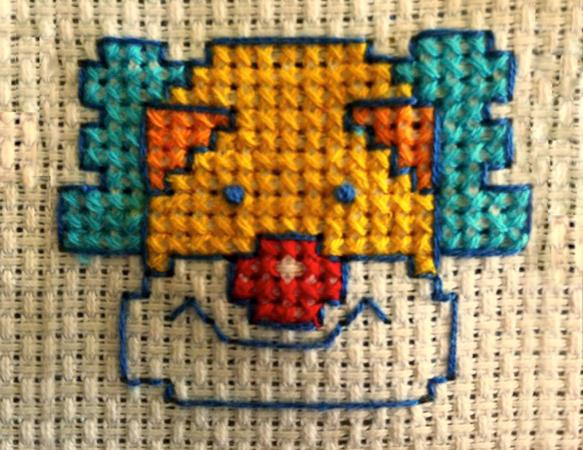 happy clown cross stitch