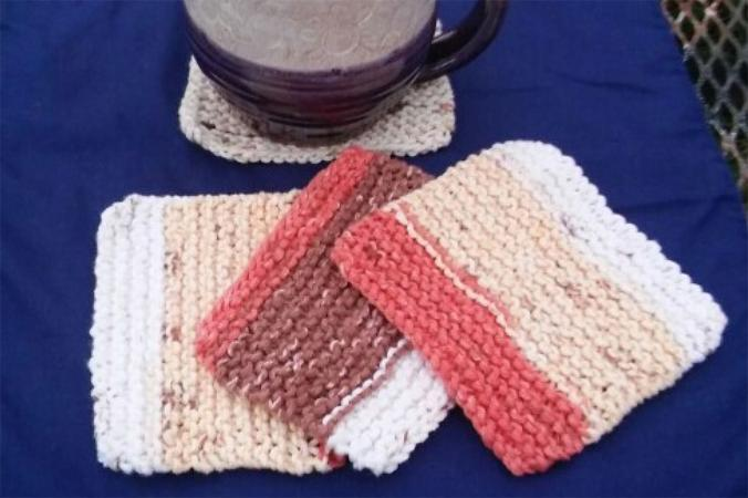 Simple Knitted Coasters