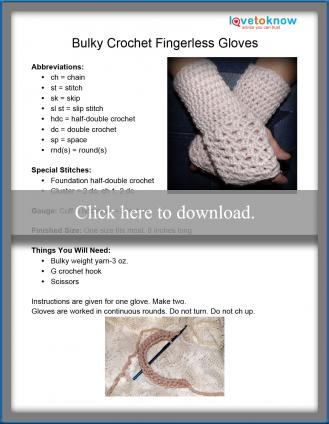 Bulky Fingerless Gloves Crochet Pattern
