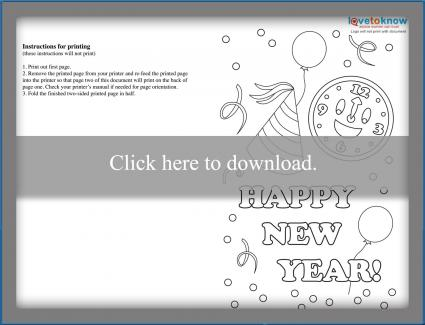Happy New Years Card Design 1