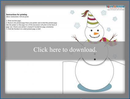 Snowman New Year's Card Design 3