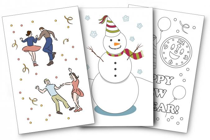 printable new years card designs