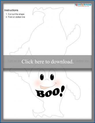 template for ghost Halloween card