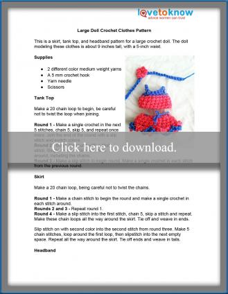 large crochet doll clothes pattern