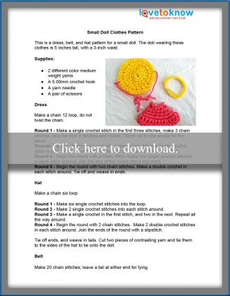 small crochet doll clothes pattern