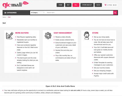 Screenshot of GLC website