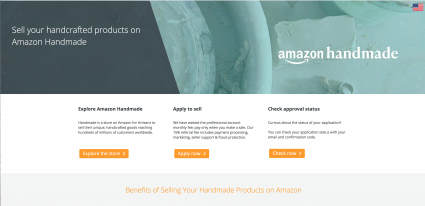 Screenshot of Handmade at Amazon