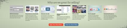 Screenshot of Shop handmade website