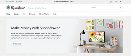 Screenshot of Spoonflower website