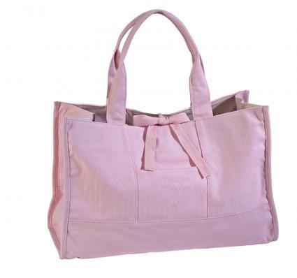 cute pink tote bag