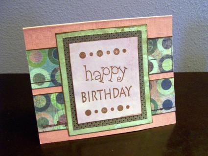 Handmade card using dollar store stamps