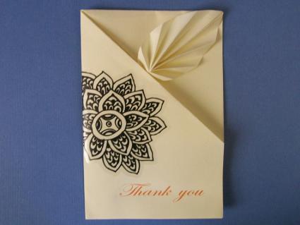 Handmade origami card