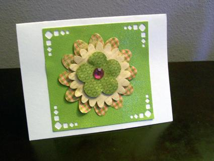 Handmade card using paper punch