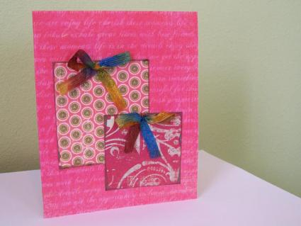 Handmade card with present design