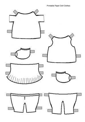 Free Printable Doll Clothes Patterns   Free Patterns