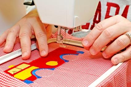 embroidery pattern with machine