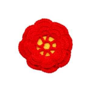 A crocheted Irish rose