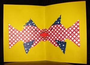 Pop-up card with kissing fish