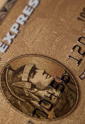 American Express Gold Card close-up