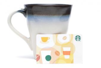 Starbucks gut card and mug