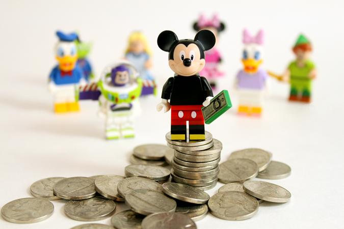 Mickey with money