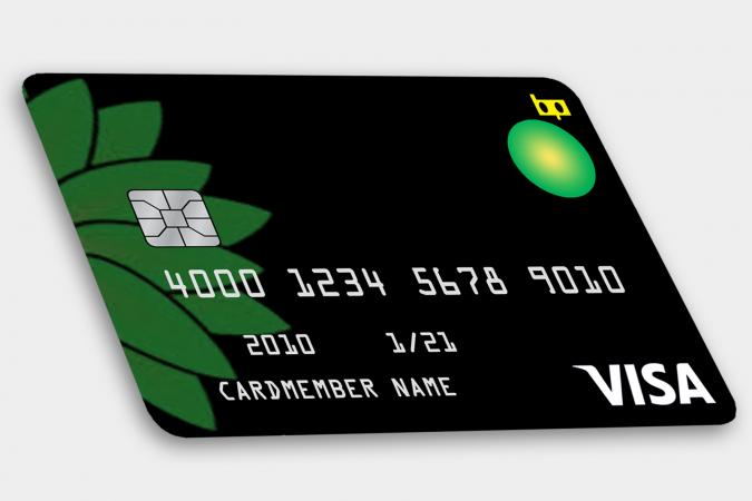 BP Visa credit card concept