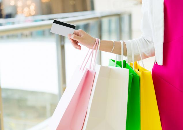 Shopping with a credit card