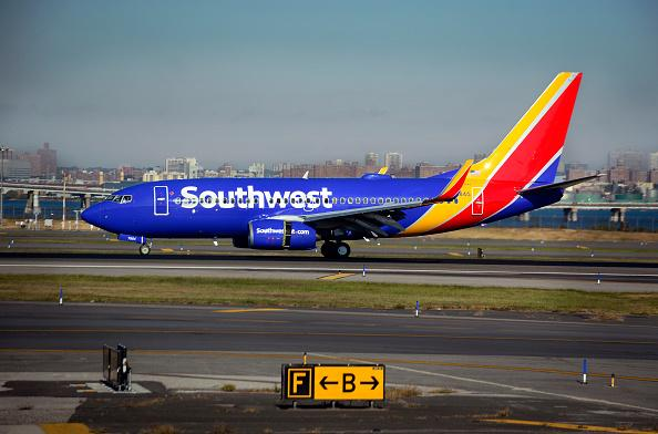 Southwest Airlines plane at airport