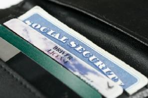 Credit card, driver's license and social security card