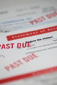 Past due bill from a debt collection agency
