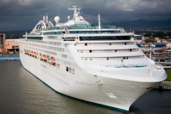 Princess Cruise Ship docked in Puerto Vallarta, Mexico