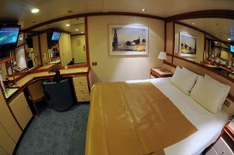 Cabin aboard the Coral Princess