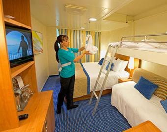 Working in ship cabin