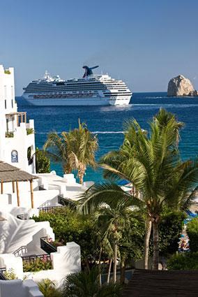 Cruise Ship Carnival Splendor Leaving Cabo San Lucas