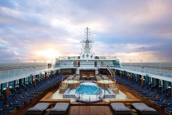 On deck of the Regatta cruise ship