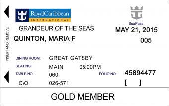 Cruise Ship ID Card