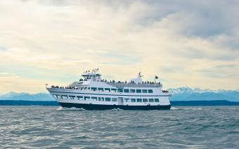 Argosy Cruise with view of Olympic Mountains