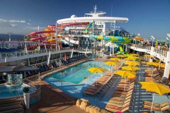 Caribbean pool deck on board Oasis of the Seas