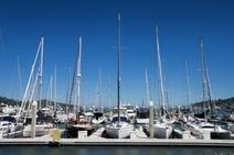 Sailboats in Lake Michigan