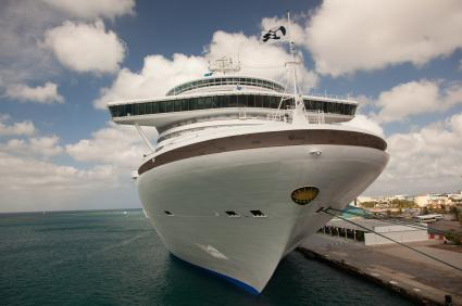 Princess Cruise Ship Docked in Aruba