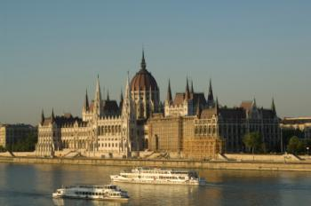 River Boats Cruising the Danube in Budapest