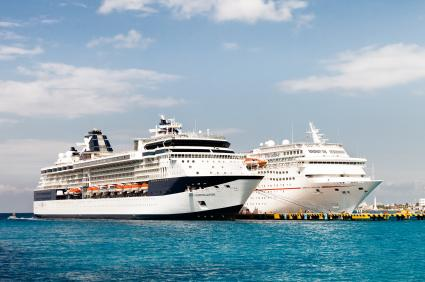 Cruise ships in Port of Cozumel