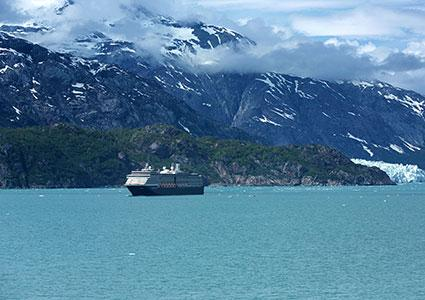 Holland America Line in Glacier Bay