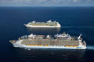 Royal Caribbean International - Oasis and Independence of the Seas side by side