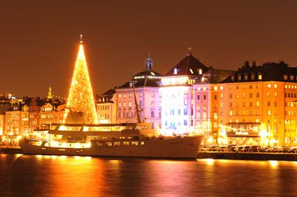 Cruise ships in Stockholm at Christmas