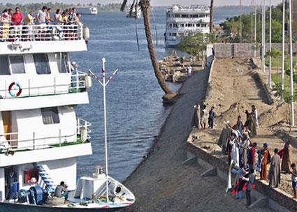 Cruise ship on River Nile