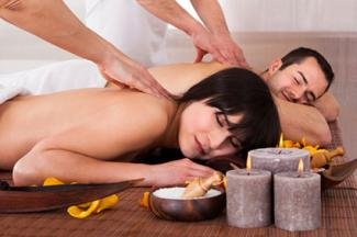 couple having massage