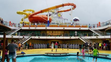 Carnival Cruise Ship Water slides